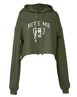 Bite Me Vampire Teeth Cropped Hoodie