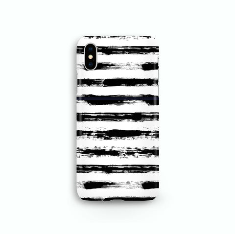 Black White Brush Line iPhone, Galaxy, LG Phone Snap or Tough Case
