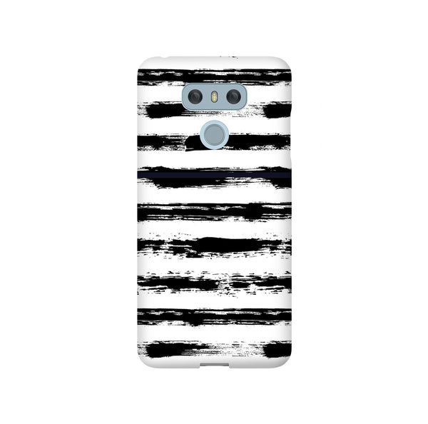 Black And White Brush Strips LG and Google Pixel Snap or Tough Phone Case