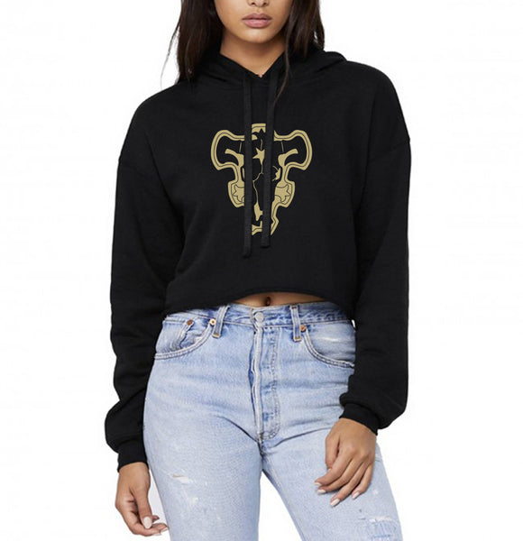 Black Bull Squad Black Clover Cropped Hoodie