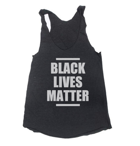 Black Lives Matter Triblend Racerback Women Tank Top