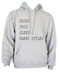 Blogs Food Sleep And Harry Styles Unisex Pullover Hoodie - Meh. Geek