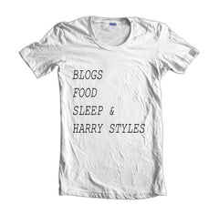 Blogs Food Sleep And Harry Styles Women T-shirt - Meh. Geek