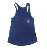 Blue Rose Pocket Black Clover Triblend Racerback Women Tank Top