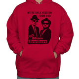 Blues Brothers We're On a Mission From God Unisex Pullover Hoodie Adult