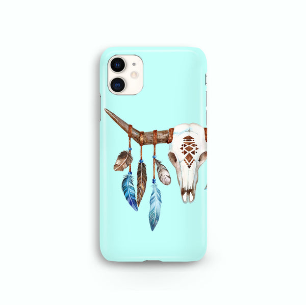 Boho Bull Skull iPhone Snap or Tough Case