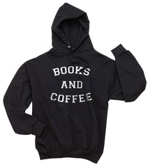 Books And Coffee Unisex Pullover Hoodie - Meh. Geek
