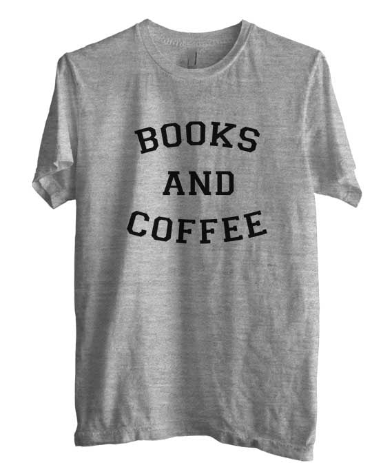 Books And Coffee black Ink Unisex Men T-shirt - Meh. Geek - 1