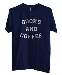 Books And Coffee White Ink Unisex Men T-shirt - Meh. Geek