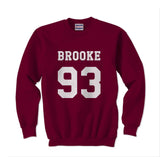 Brooke 93 White Ink on Front Ally Brooke Crewneck Sweatshirt - Meh. Geek
