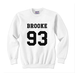 Brooke 93 Black Ink on Front Ally Brooke Crewneck Sweatshirt - Meh. Geek