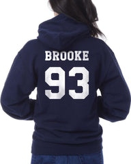 Brooke 93 White Ink on Back Ally Brooke Unisex Pullover Hoodie - Meh. Geek