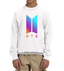 BTS Rainbow K-Pop Kid / Youth Crewneck Sweatshirt