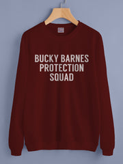 Bucky Barnes Protection Squad Superhero Unisex Crewneck Sweatshirt (Adult)