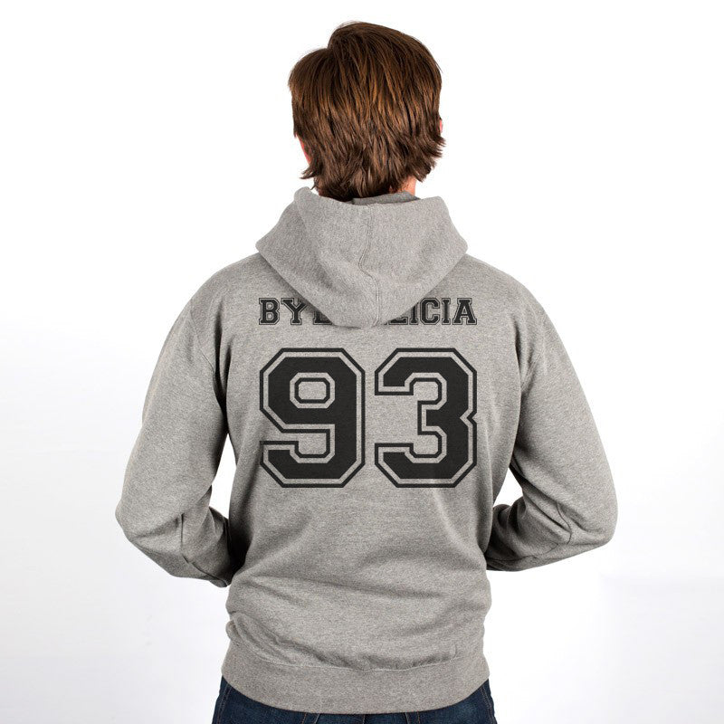 Bye Felicia 93 Black Ink on Back Funny Unisex Pullover Hoodie - Meh. Geek