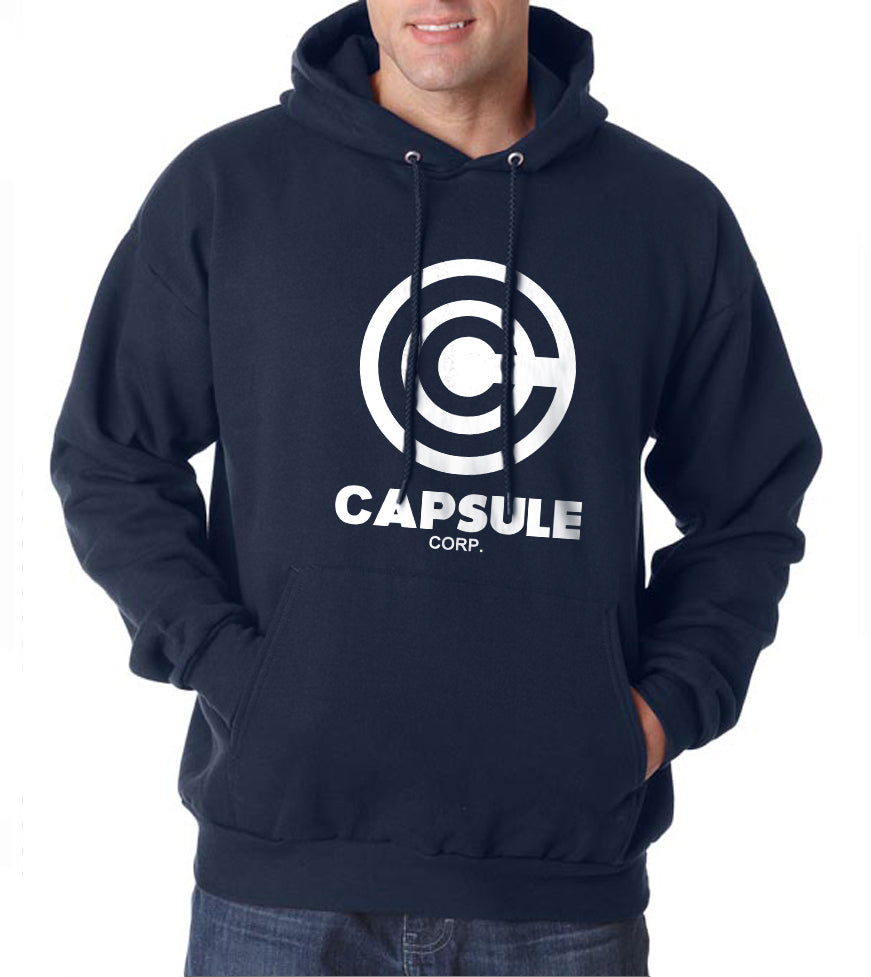 Capsule Corporation 1 Bulma Dragon Ball Unisex Pullover Hoodie - Meh. Geek