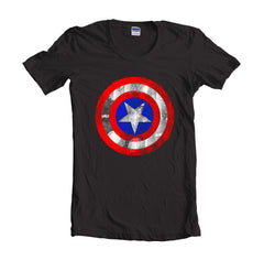 Captain America Logo Super Hero T-shirt Women - Meh. Geek