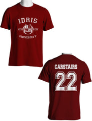 Carstairs 22 Idris University Men T-shirt Maroon - Meh. Geek - 1