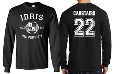 Carstairs 22 Idris University Long Sleeve T-shirt for Men Black - Meh. Geek - 1