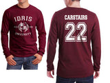 Carstairs 22 Idris University Long Sleeve T-shirt for Men Maroon - Meh. Geek - 1