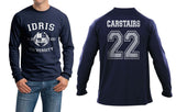 Carstairs 22 Idris University Long Sleeve T-shirt for Men Navy - Meh. Geek - 1