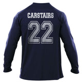 Carstairs 22 Idris University Long Sleeve T-shirt for Men Navy - Meh. Geek - 3