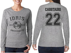 Carstairs 22 Idris University Long sleeve T-shirt for Women Light Steel - Meh. Geek - 1