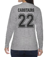 Carstairs 22 On BACK Idris University Long sleeve T-shirt for Women - Meh. Geek - 3