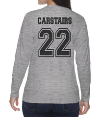 Carstairs 22 Idris University Long sleeve T-shirt for Women Light Steel - Meh. Geek - 3
