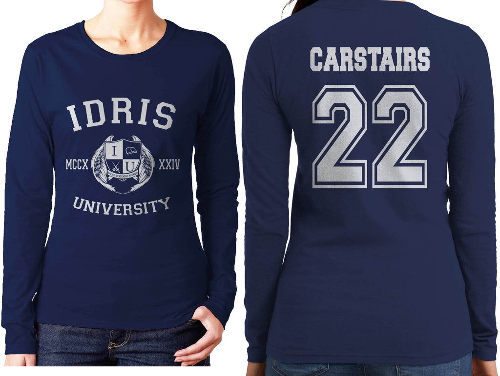 Carstairs 22 Idris University Long sleeve T-shirt for Women Navy - Meh. Geek - 1