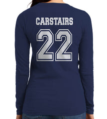 Carstairs 22 Idris University Long sleeve T-shirt for Women Navy - Meh. Geek - 3