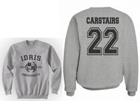Carstairs 22 Idris University Unisex Crewneck Sweatshirt Heather Grey - Meh. Geek - 1