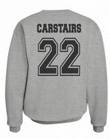 Carstairs 22 Idris University Unisex Crewneck Sweatshirt Heather Grey - Meh. Geek - 3