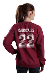 Carstairs 22 On BACK Idris University Unisex Crewneck Sweatshirt - Meh. Geek - 5