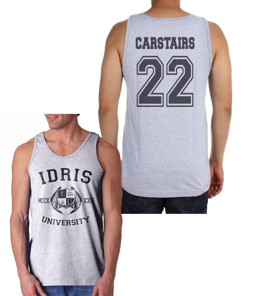 Carstairs 22 Idris University Men Tank Top Heather Grey