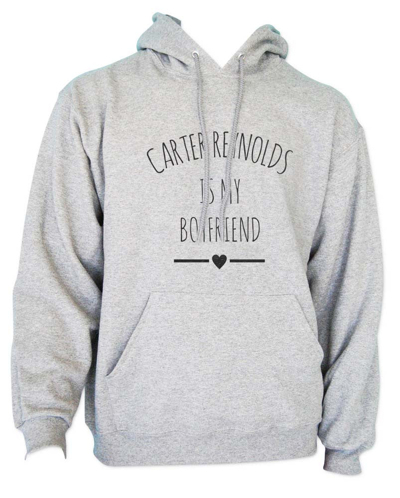 Carter Reynolds Is My Boyfriend LOVE Unisex Pullover Hoodie - Meh. Geek - 3