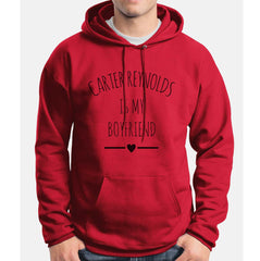 Carter Reynolds Is My Boyfriend LOVE Unisex Pullover Hoodie - Meh. Geek - 7
