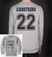 Carstairs 22 Idris University Unisex Crewneck Sweatshirt Heather Grey - Meh. Geek - 2