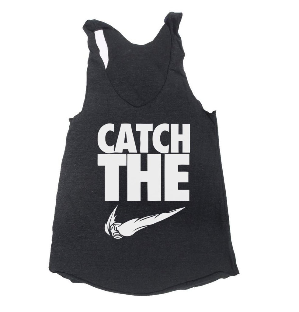 Catch The Snitch Triblend Racerback Women Tank Top