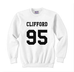Clifford 95 Black Ink on Front Michael Clifford Unisex Crewneck Sweatshirt - Meh. Geek