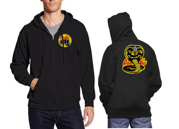 Cobra Kai Front and back Unisex Zip Up Hoodie