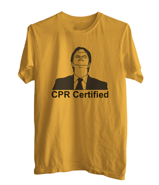 CPR Certified Dwight Schrute Men T-shirt / Tee