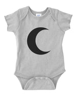 Crescent Moon  Infant Baby Rib Lap Shoulder Creeper Onesies