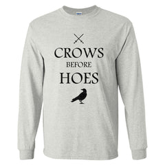Crows Before Hoes Long Sleeve T-shirt for Men - Meh. Geek