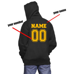 Customize - Hufflepuff BEATER Quidditch Team pocket Unisex Zip Up Hoodie
