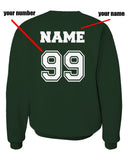 Customize - New Slytherin SEEKER Quidditch Team Unisex Crewneck Sweatshirt Adult