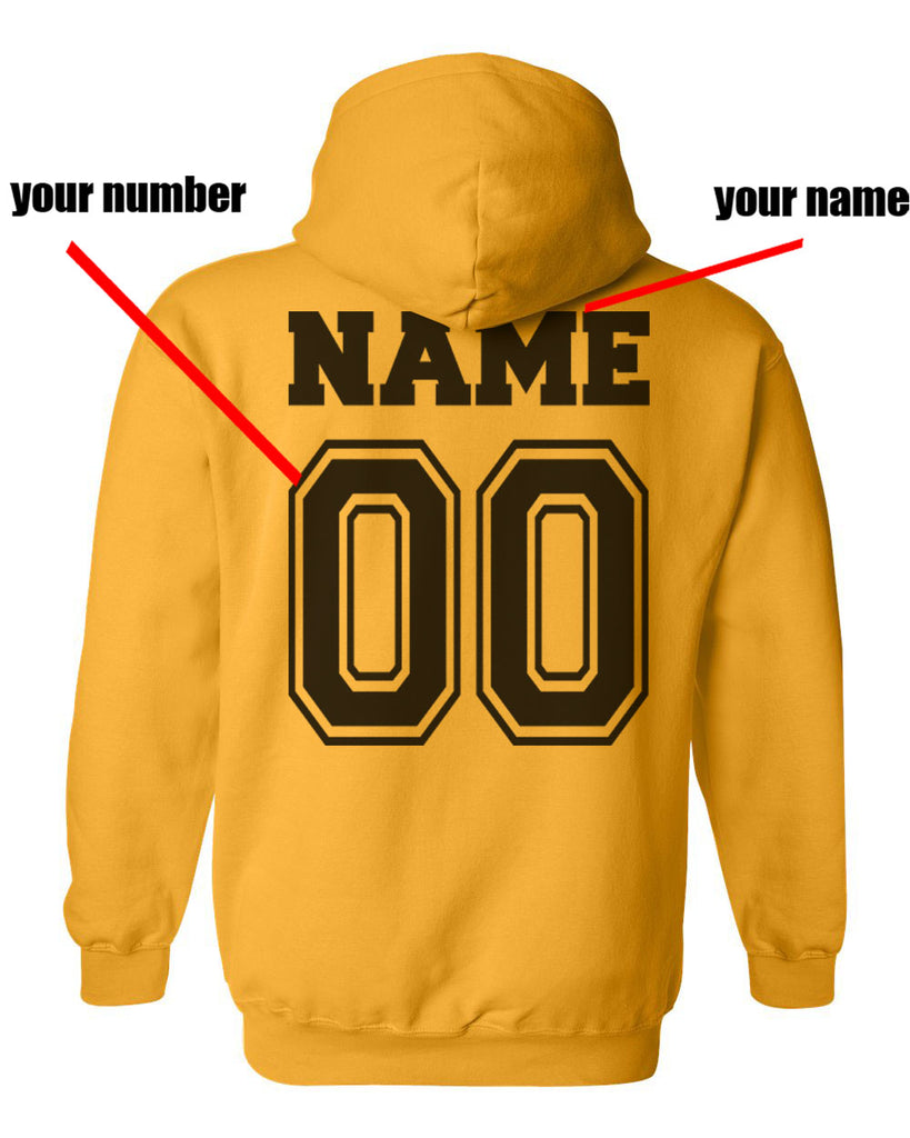 fbbe8726 Customize - New Hufflepuff KEEPER Quidditch Team Unisex Pullover Hoodie  Gold .