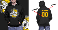 Customize - Hufflepuff Crest #2 Unisex Pullover Hoodie Black