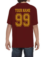 Customize - OLD Gryffindor PLAIN (No Position) Quidditch Team Kid / Youth T-shirt tee