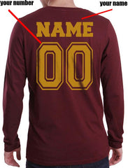 Customized - New Gryffindor CAPTAIN Quidditch Team Long Sleeve T-shirt for Men
